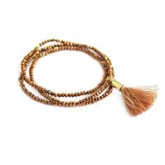Brown Wrap Tassel Bracelet