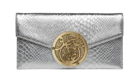 Le Petite Icon Bag - Silver Python